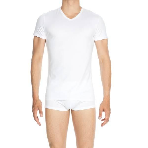 Hom Classic Tee Shirt V Neck White Hom