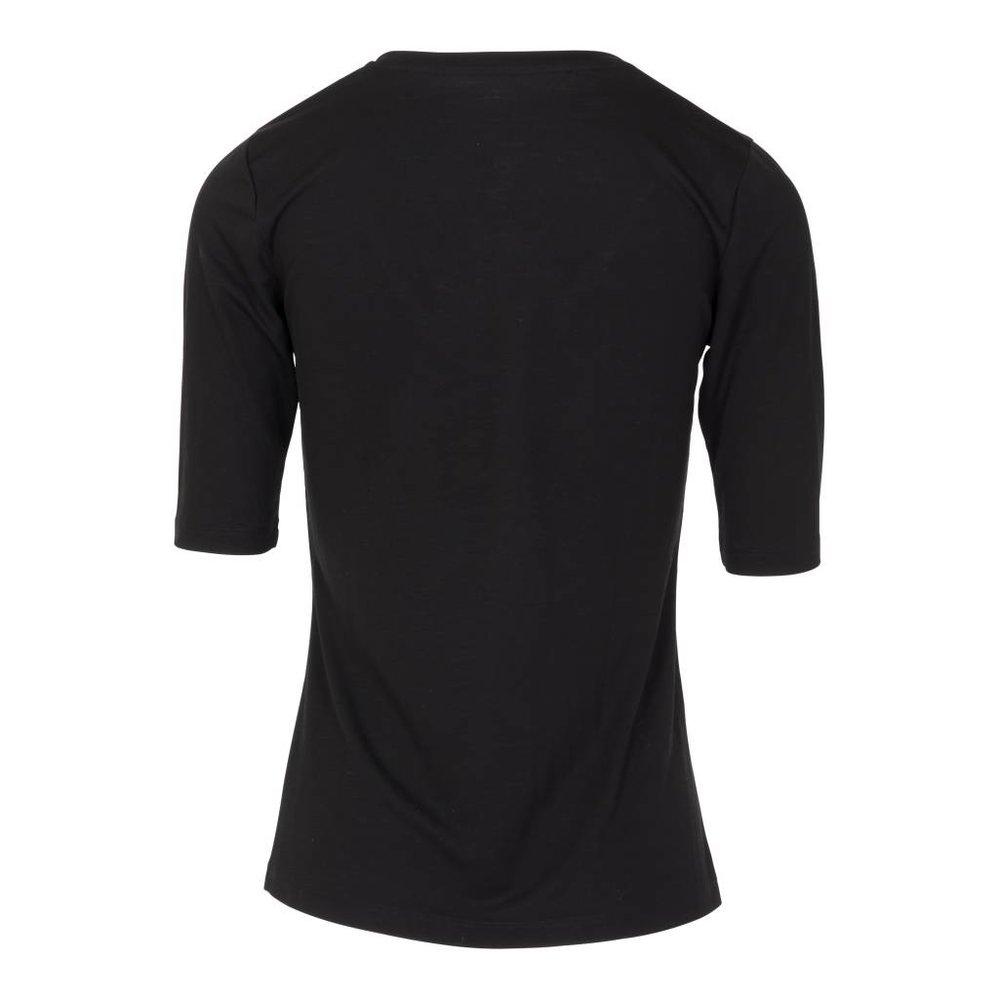 Vrouwelijk zacht v-hals t-shirt met Franse mouw, 100% Lyocell