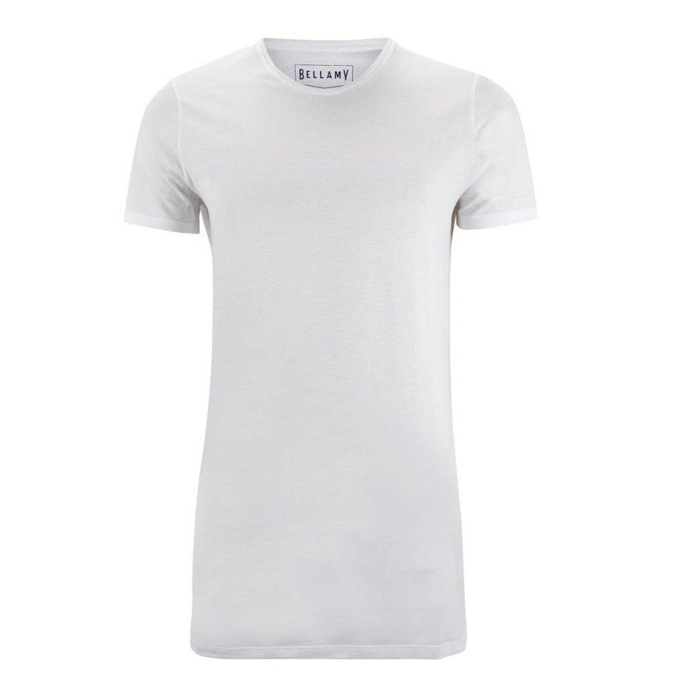 Mooie ronde hals extra lang t-shirt, 100% katoen