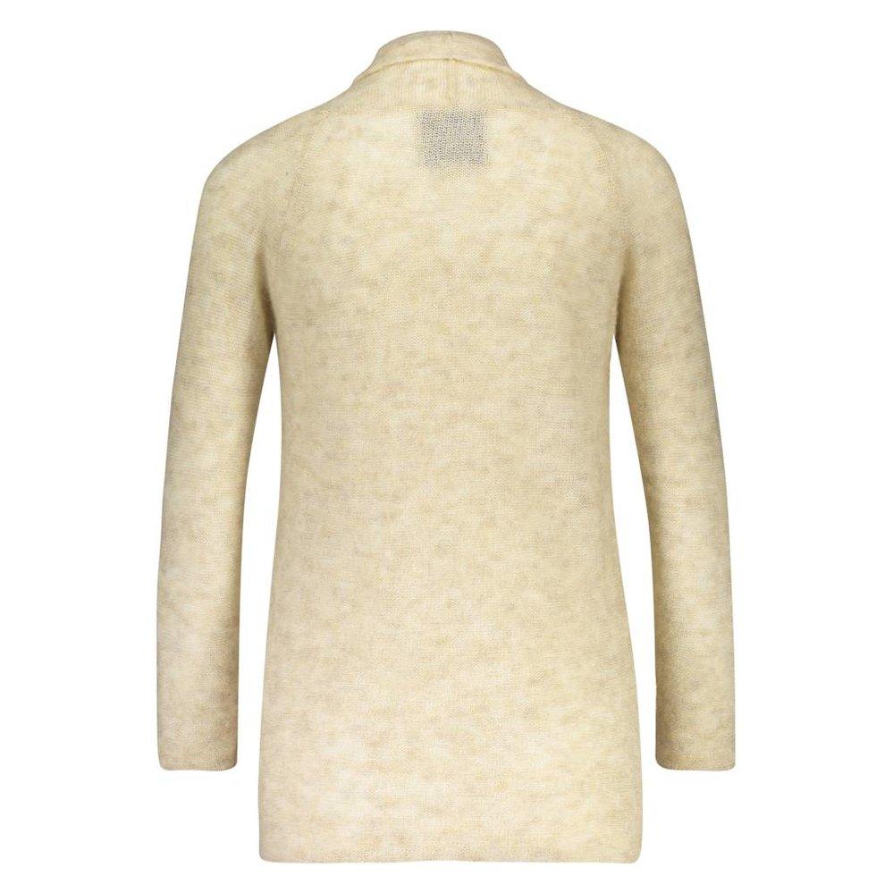 Ultrazacht & licht lang mohair vest met sjaalkraag