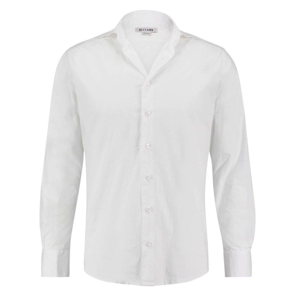 Het perfecte shirt in crispy katoen wit