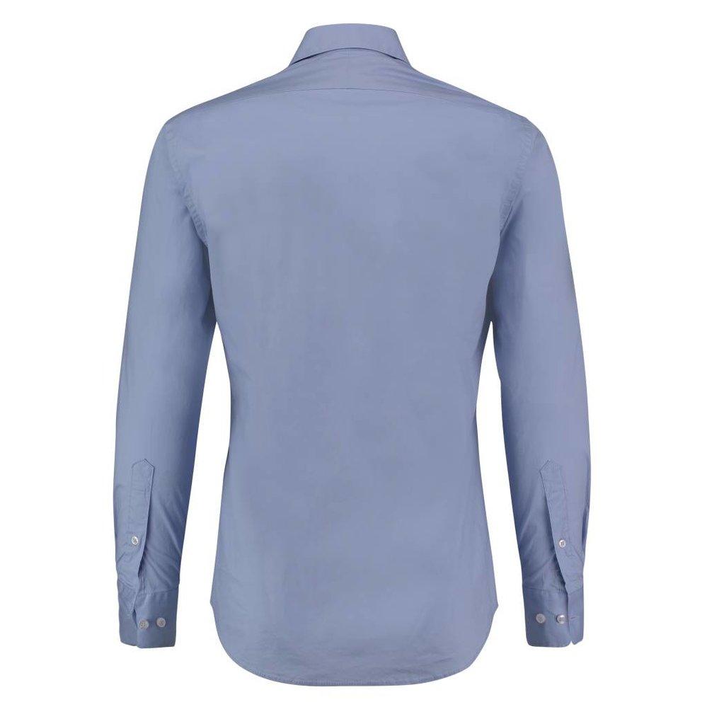Het perfecte shirt in crispy katoen lichtblauw