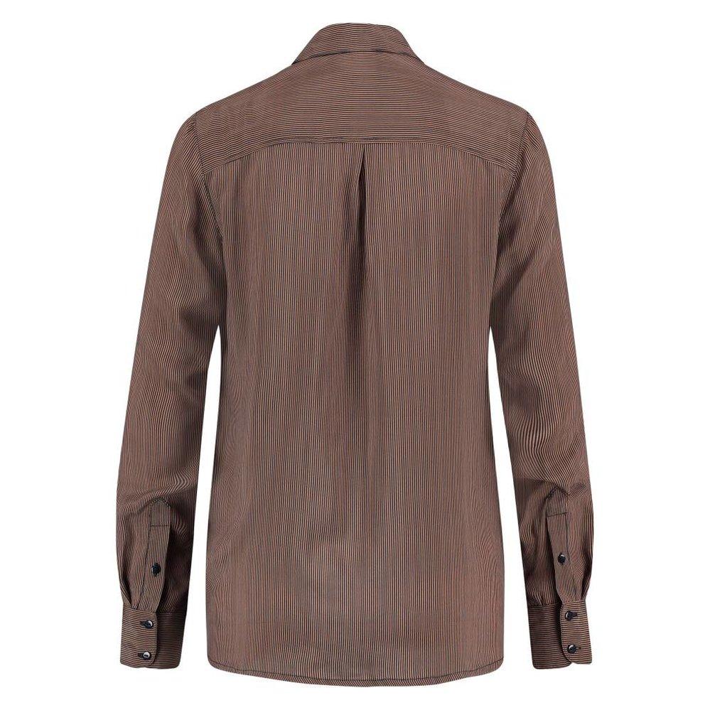 elegante cupro zijdeglans blouse