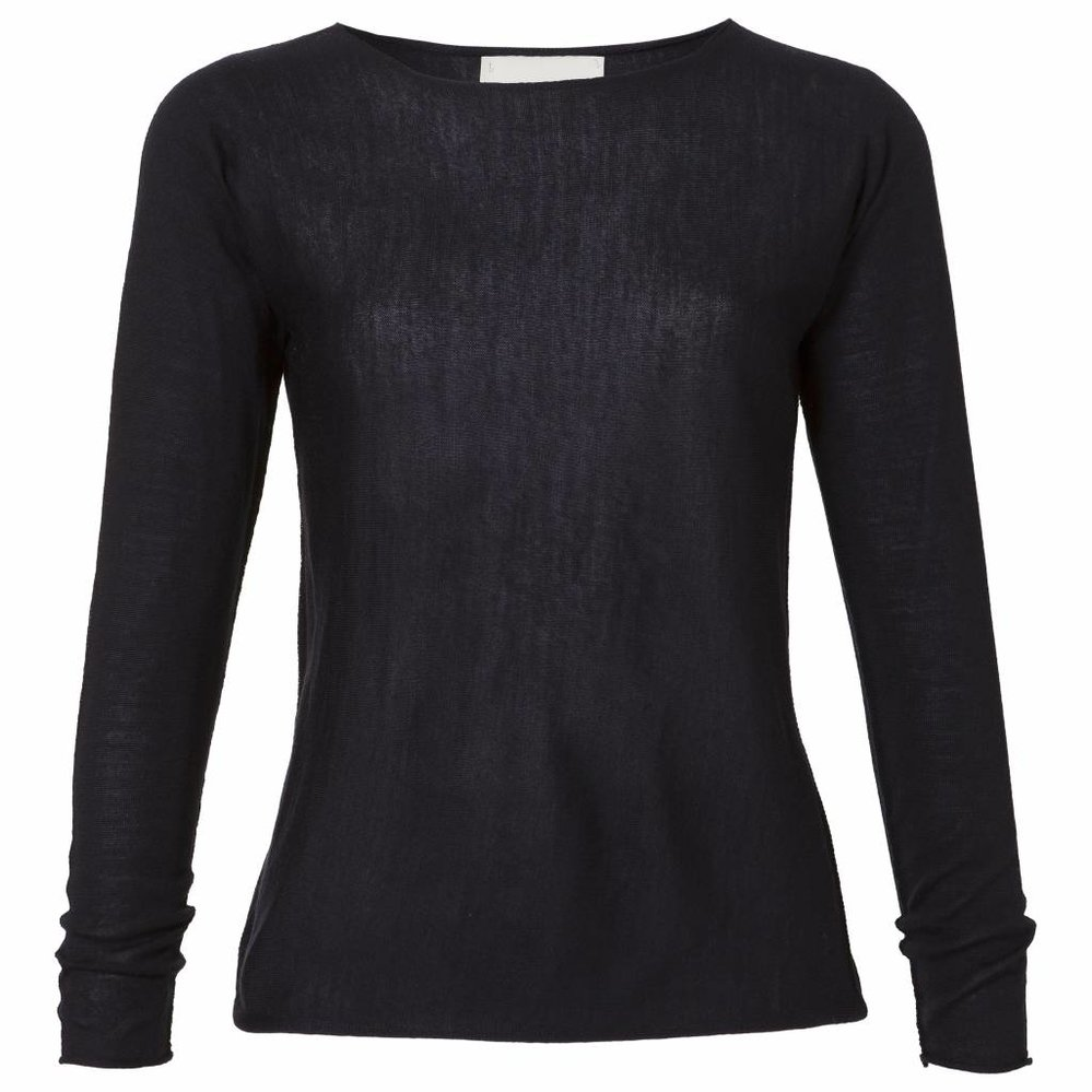 Seamless Fine-knit Boatneck Pull
