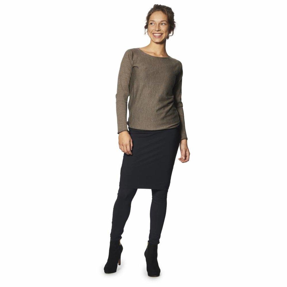 Matglanzende laddervrije legging/panty in travel kwaliteit