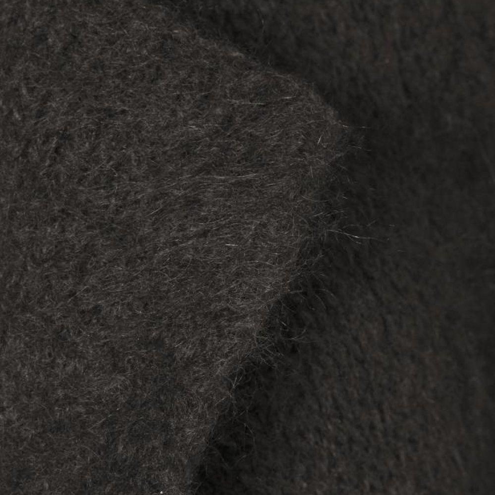 Lang mohair vest met reverskraag