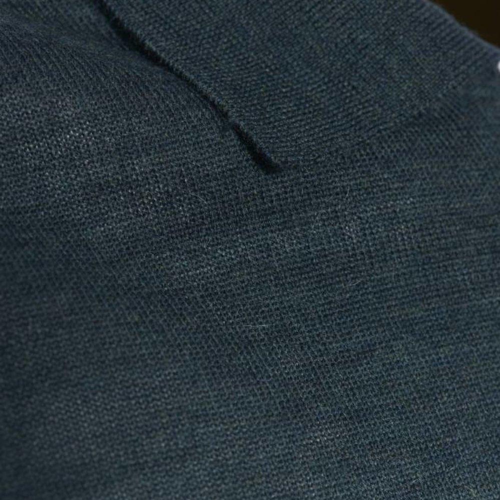 Verfijnde wollen polo lange mouw