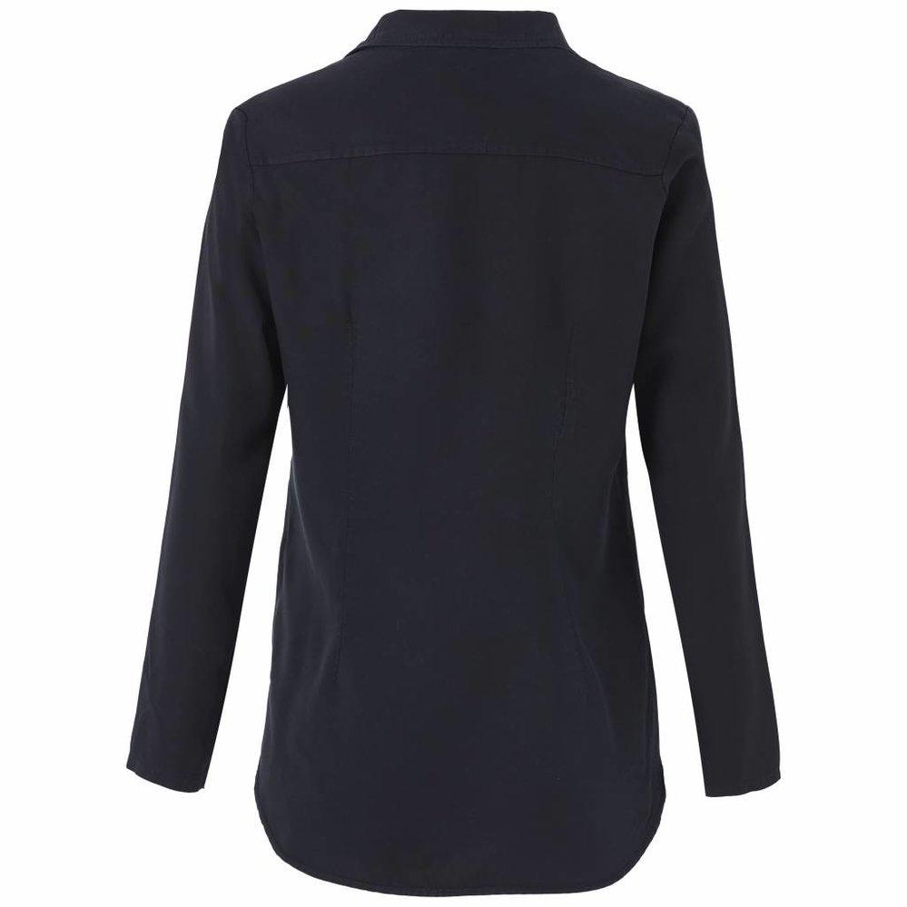 Zachte tencel blouse met blinde sluiting