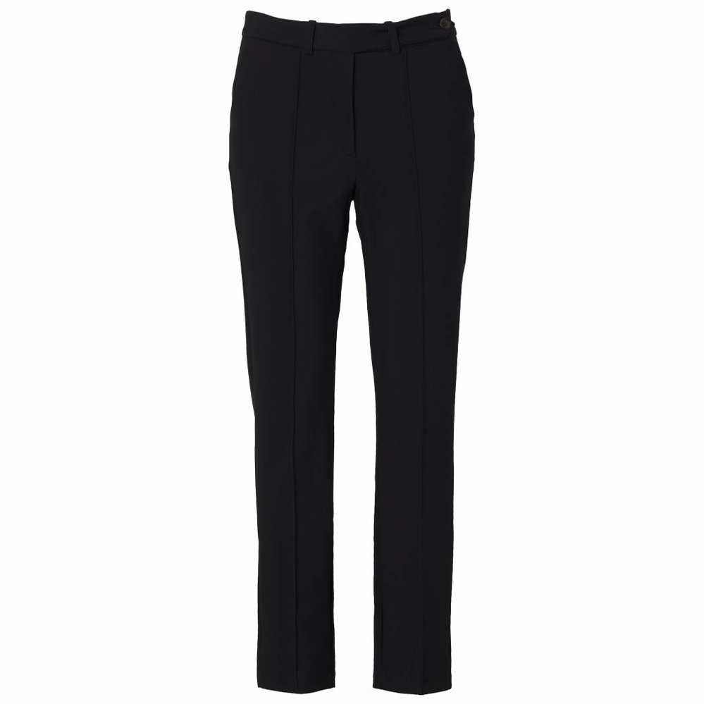 Slimfit pantalon van stevige travelkwaliteit