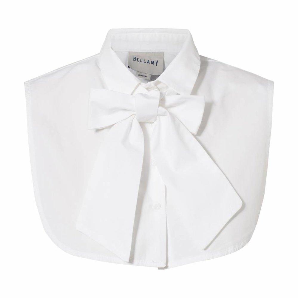 Los kraagje met of zonder strik te dragen  wit