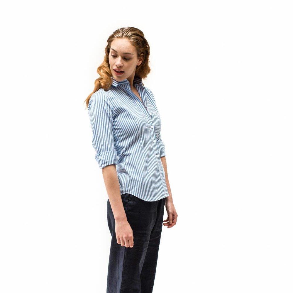 Classy striped slim fit shirt