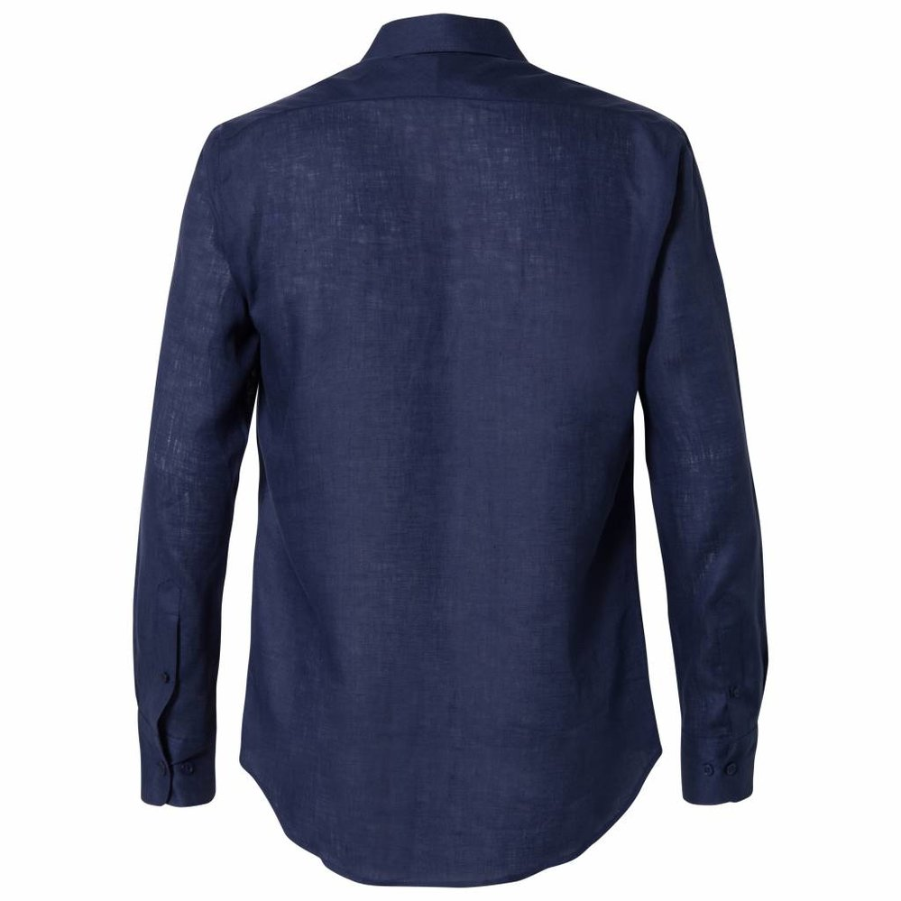Het perfecte shirt in 100% linnen navy