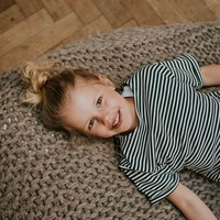 maxe kinderen streep korte mouw sweater