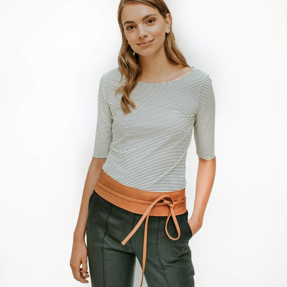 Gracieuze kreukvrije basic top