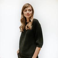 Emily vrouwen katoenen trui zwart