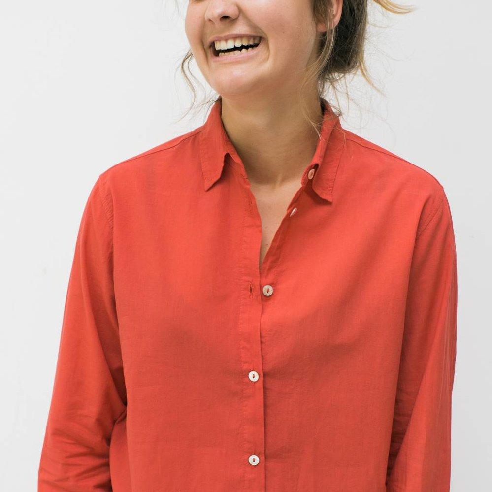 Katoen voile blouse