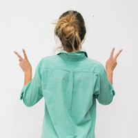 elke vrouwen blouse  mintgroen