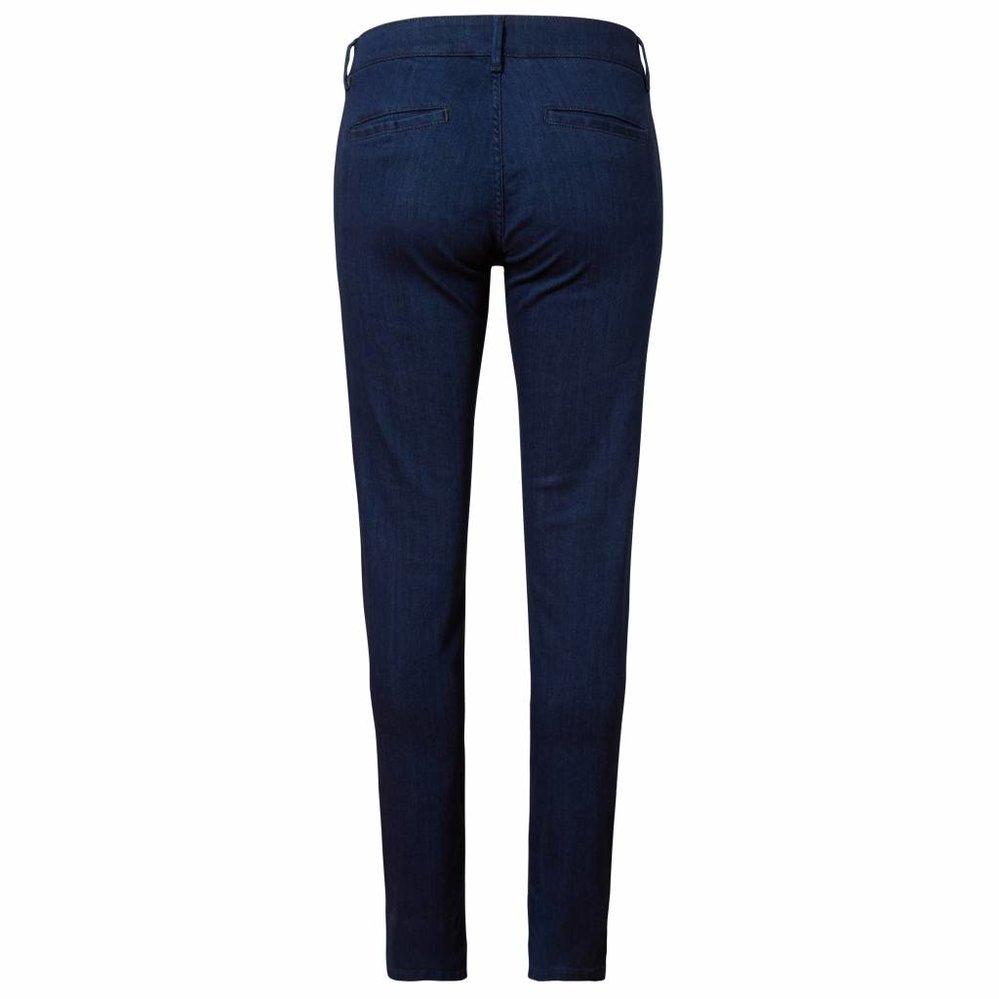 Luxe slim fit chino jeans deep dark denim