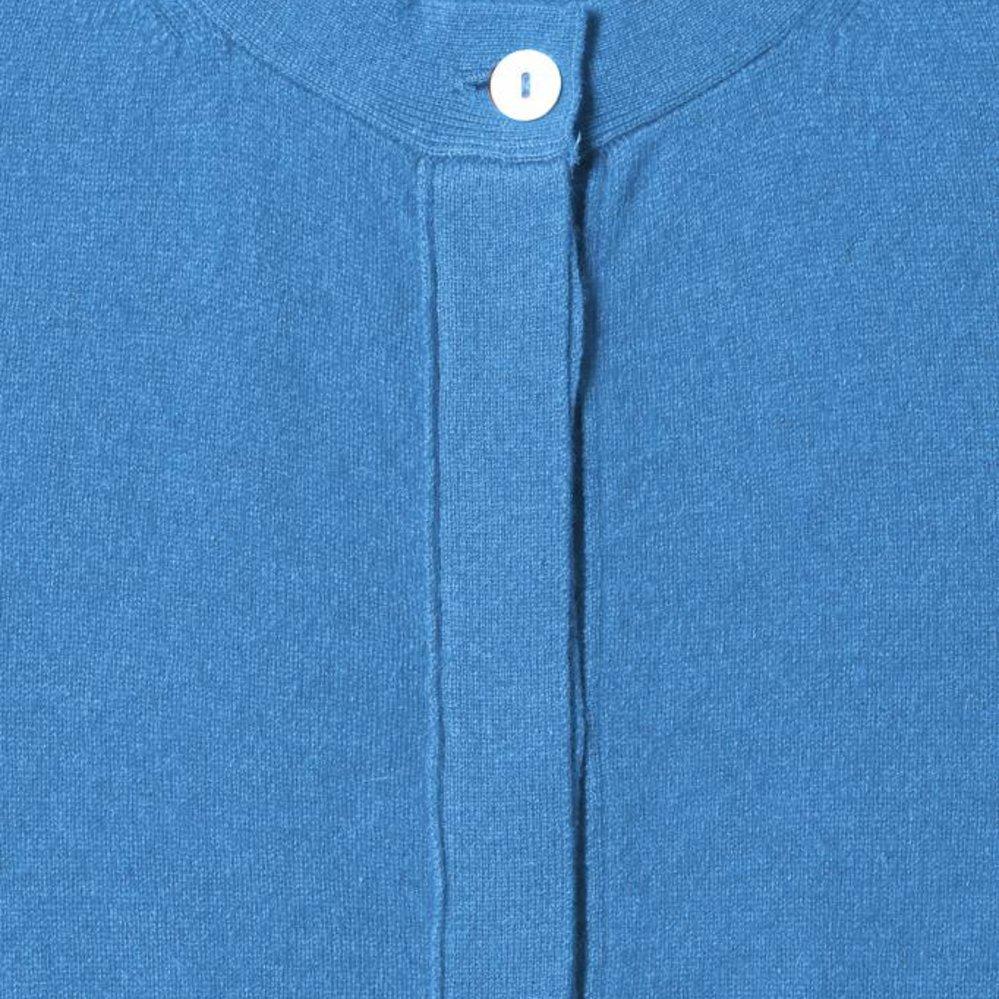 100% cahmere vest met blinde sluiting