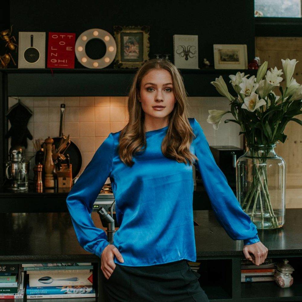 Ultimate classic silk satin blouse