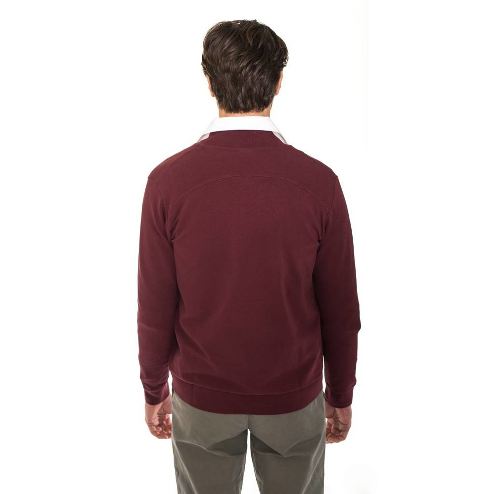 Bomber sweater vest van de allerfijnste katoenen garens