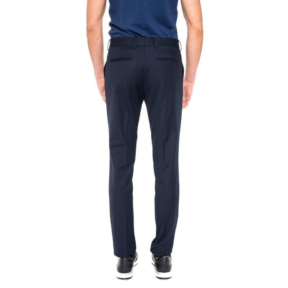 Luxe katoenen slimfit pantalon