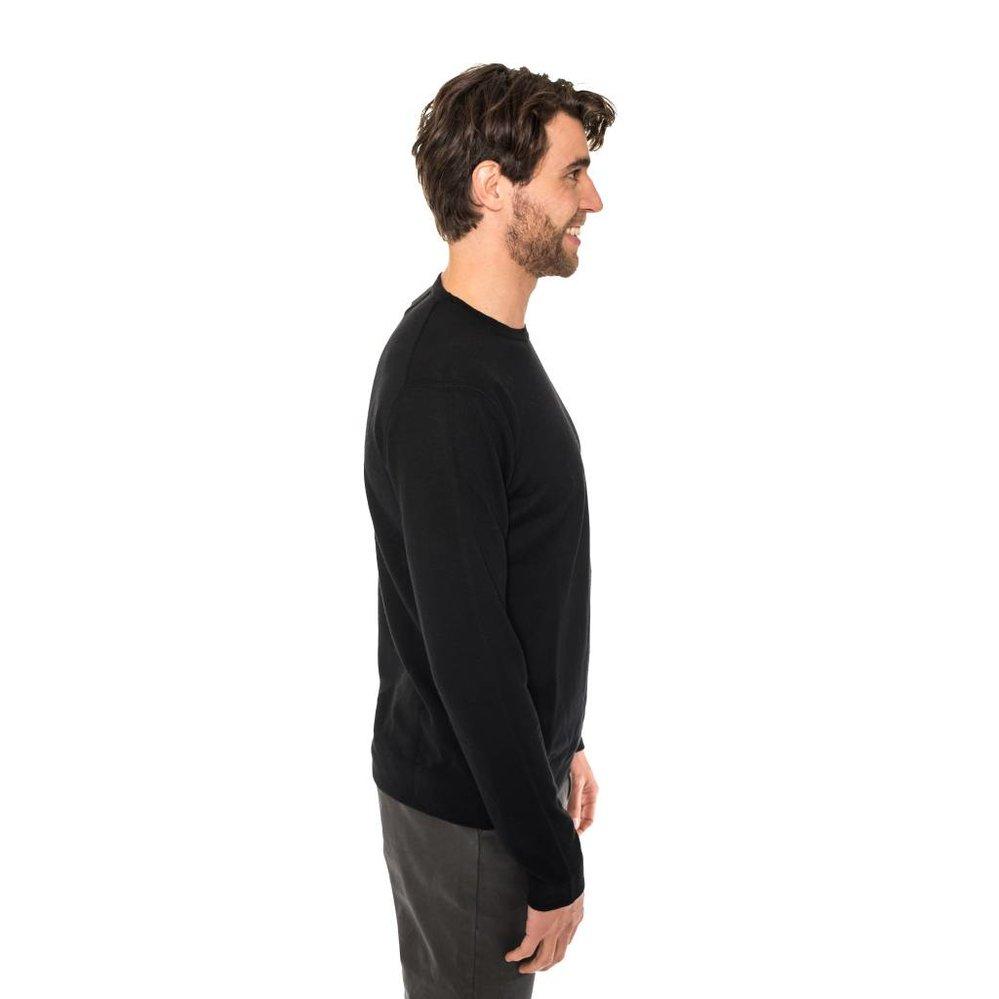 Stijlvolle ronde hals trui 100% merino wol