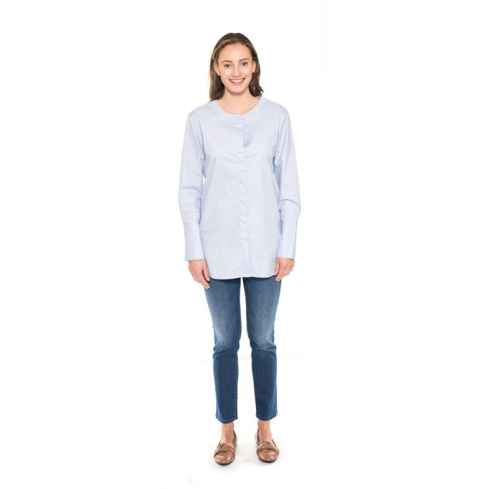 Lange crispy katoen blouse