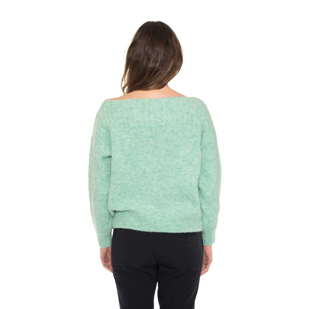 feminine bootneck sweater with fancy sleeve