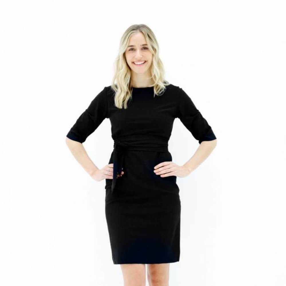 The perfect  3 way to wear dress in travel fabric
