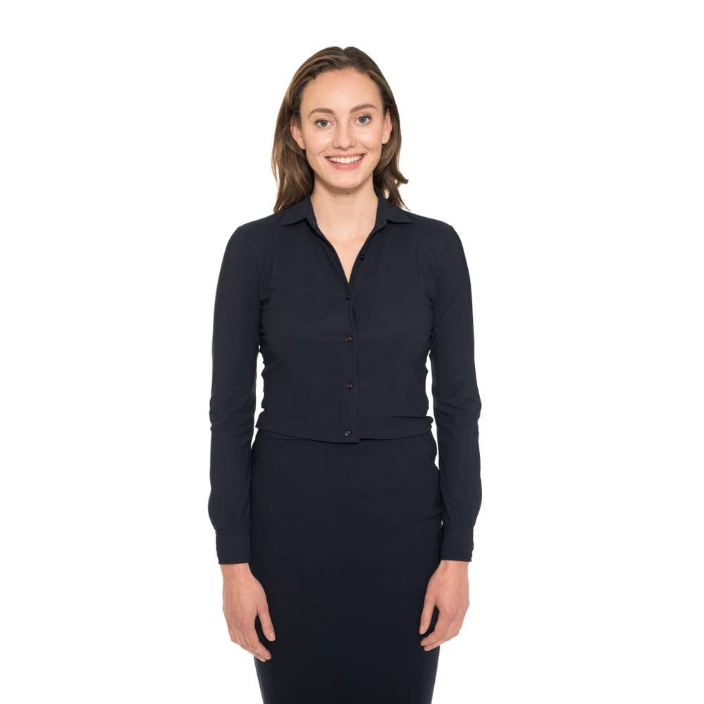 super stretch travel blouse