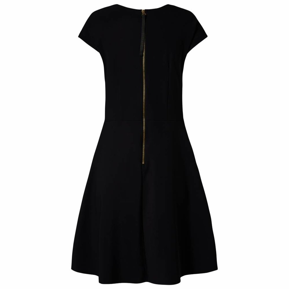 Dress with a- line skirt and pockets in stretch Travel fabric