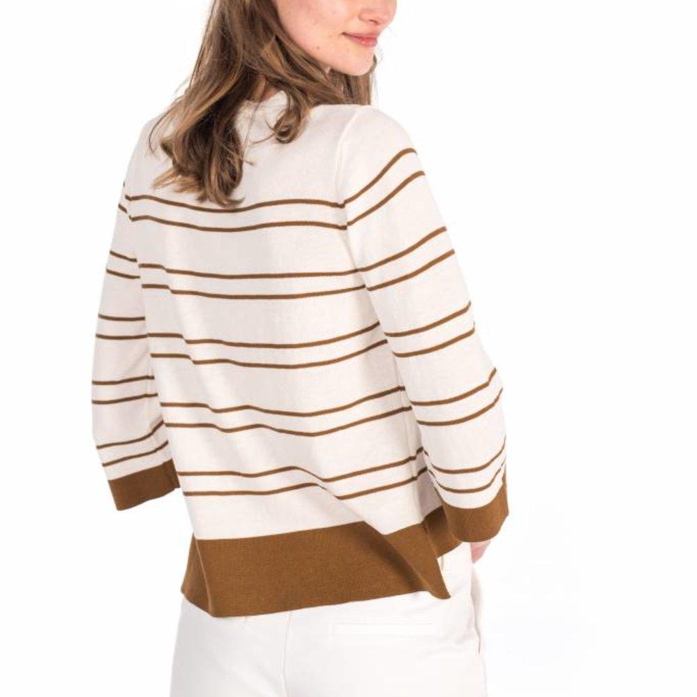 Fine knit stripe top 100% cotton