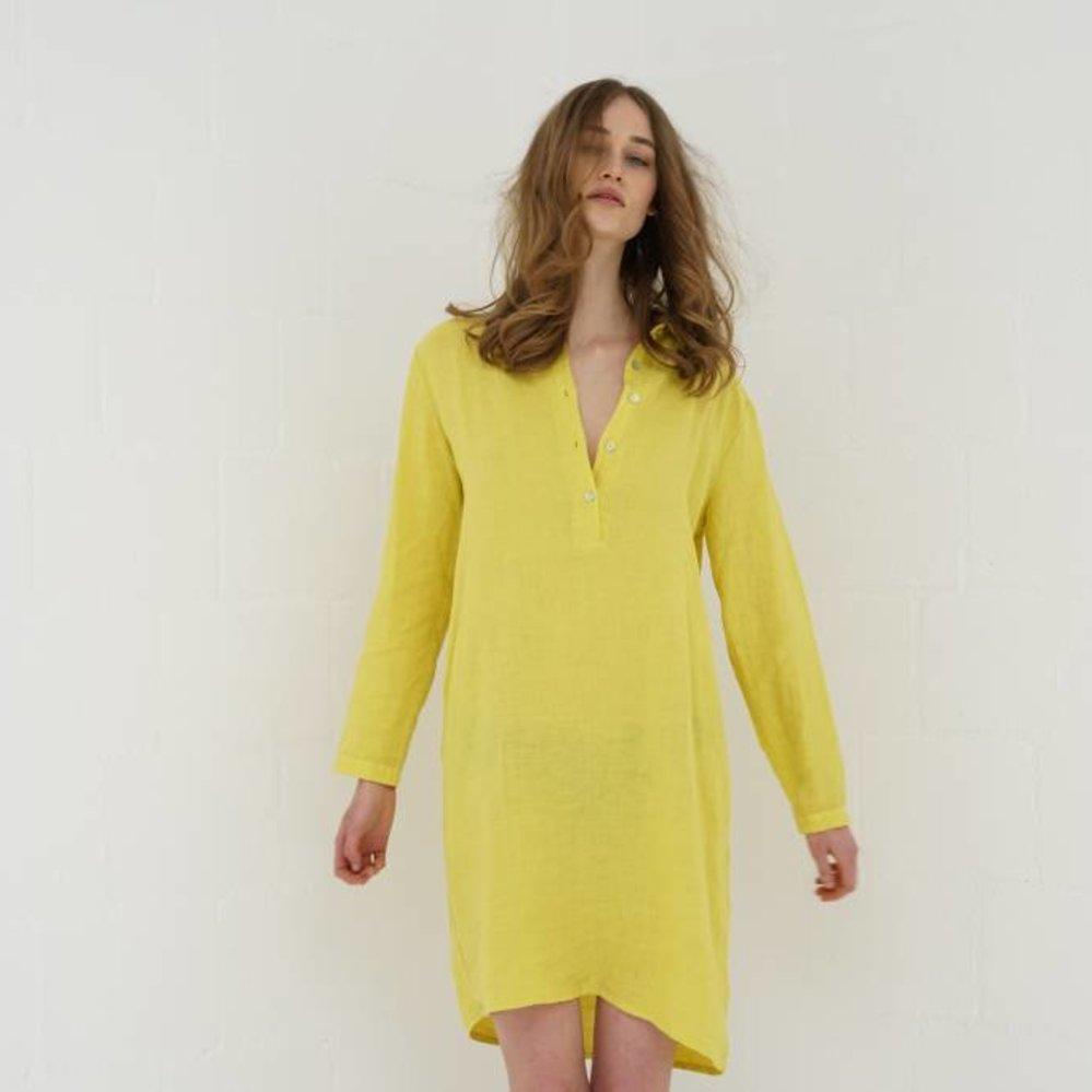100% linen shift dress with pockets