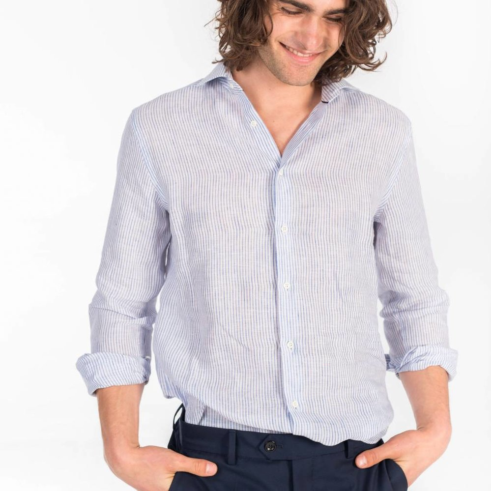 The perfecte stripe linen shirt