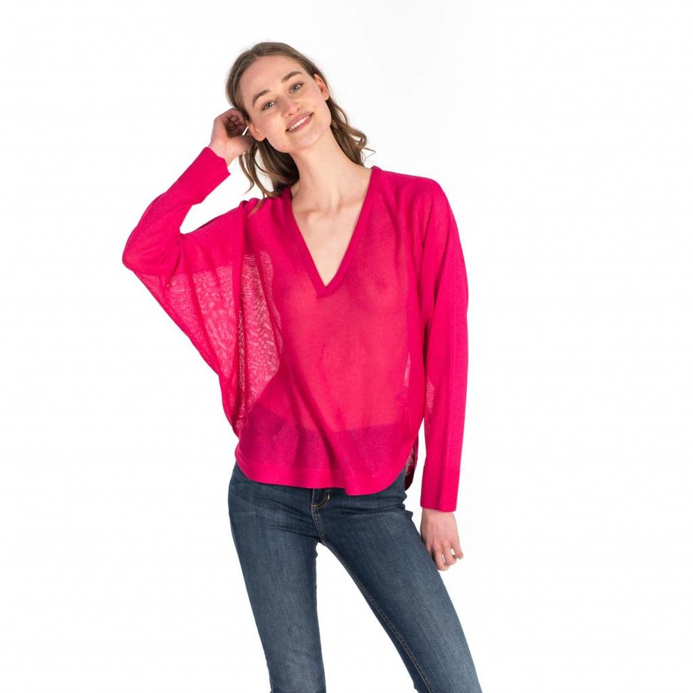 Be the change: batwing lurex sweater