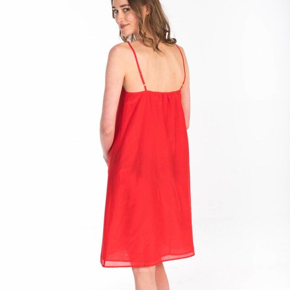 The elegant Feminine slip  dress in silk