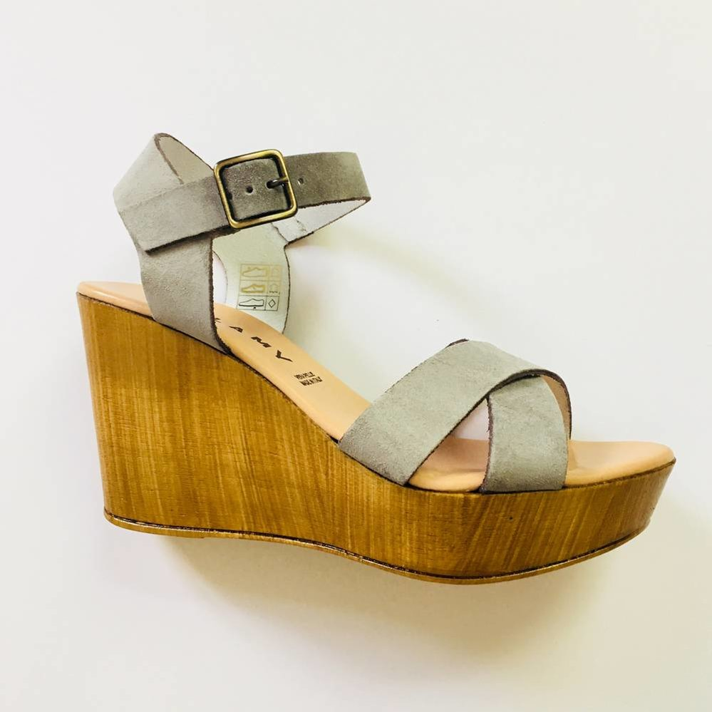 High heel  100% leather & suede