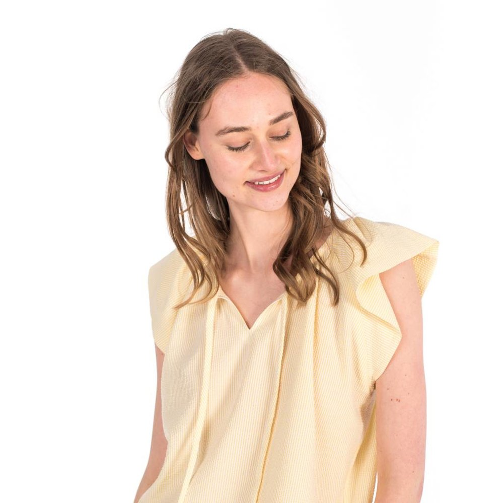 summer woven stripe top