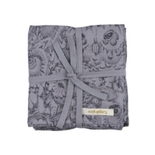 soft gallery muslin cloths set of 3 drizzle