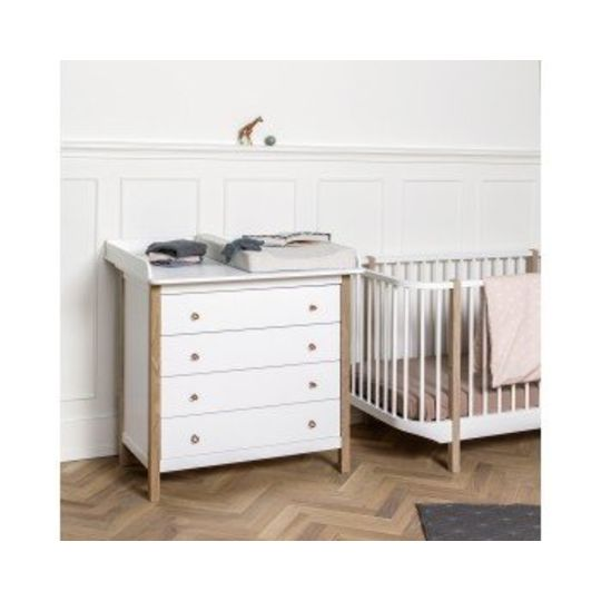 oliver furniture wood commode 4 lades
