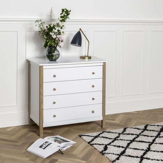 oliver furniture wood dresser 4 drawers