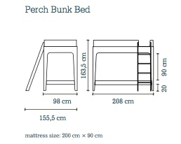 Perch Bunk Bed Birch White Cozykidz
