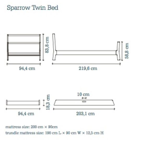 oeuf nyc sparrow twinbed wit
