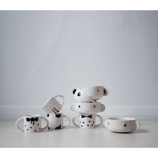 wee gallery porcelain set panda