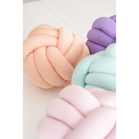 cozykidz knotball pillow peach