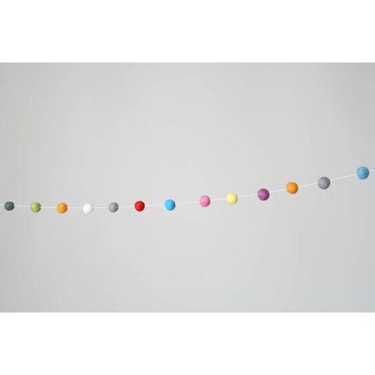 cozykidz DIY feltball garland multicolor