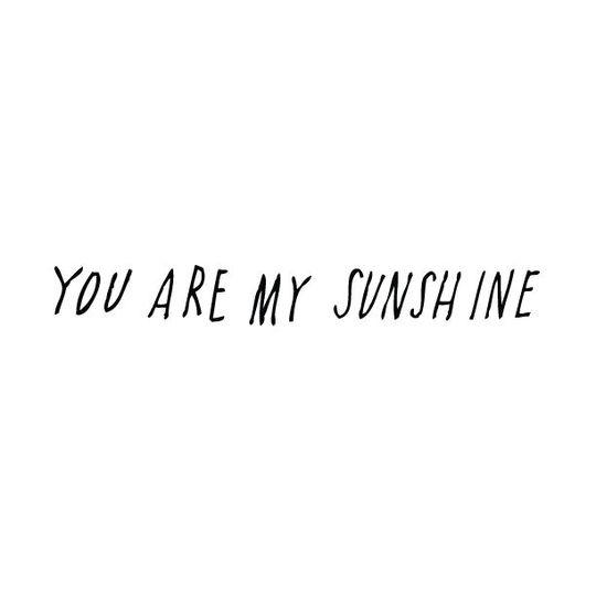 shanna murray you are my sunshine muursticker