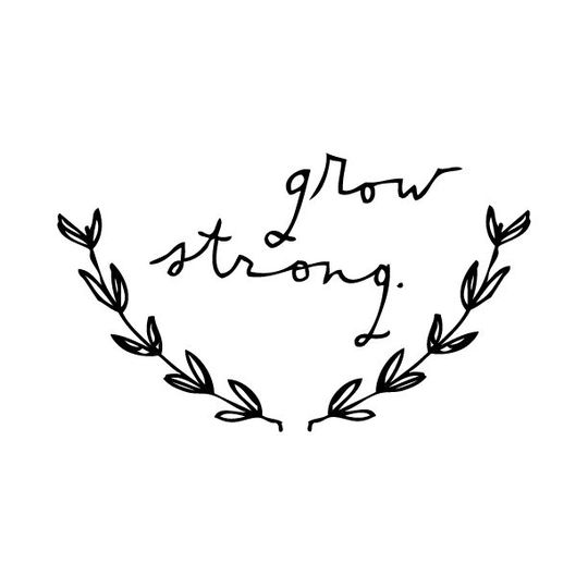 shanna murray Grow strong wall sticker lowercase