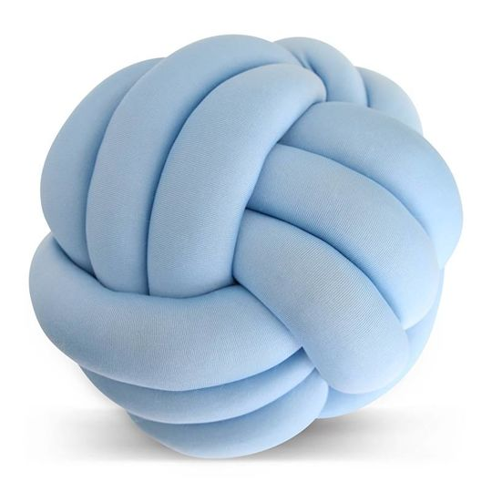 cozykidz knotball pillow light blue